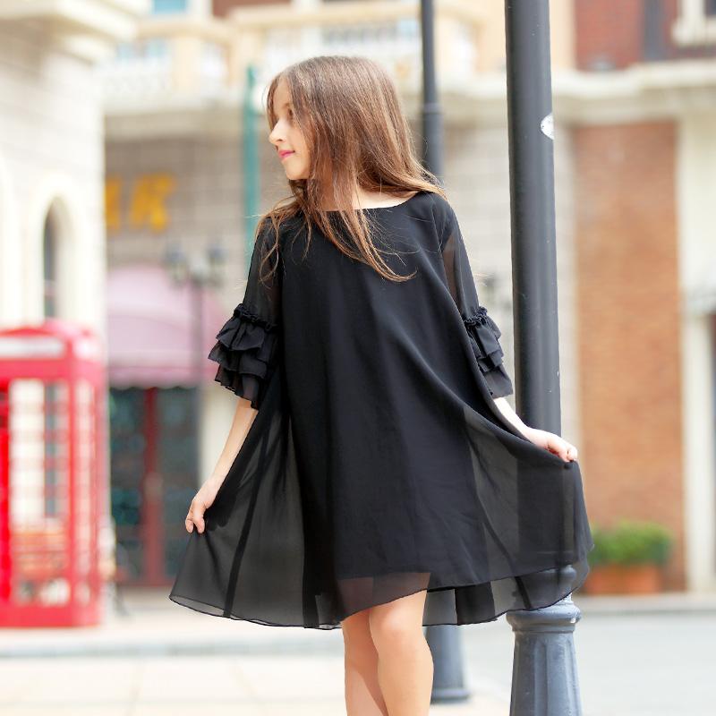 100% Cotton Girls Summer Dress For 5-13 Age Reine Des Neiges Girls Clothes Children Clothing Vestidos Infantis 75412(China (Mainland))