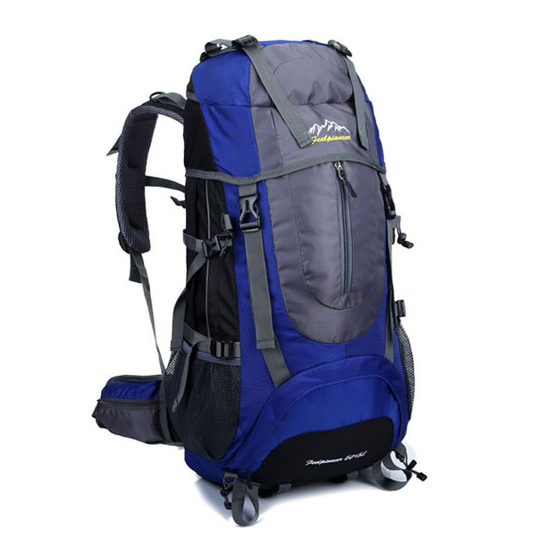 60L Outdoor backpack professional climbing bags mountaineering waterproof  backpacking camping bolsa hiking camelback sports bag<br><br>Aliexpress