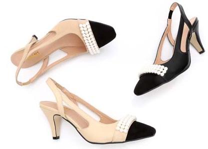 high quality~ U542 40 GENUINE LEATHER SLING BACK PEARL med HEEL SANDALS luxury designer shoes beige matte 6cm c<br><br>Aliexpress