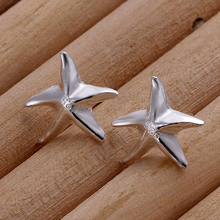 High quality 925 sterling silver stud Earrings for women fashion jewelry pendientes de plata earings silver plated Earring E033