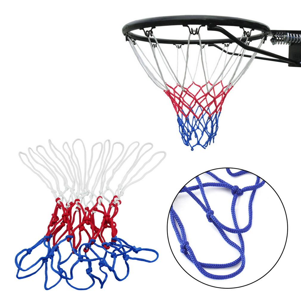 Red White Blue Basketball Net 3-5mm Nylon Hoop Goal Rim Mesh Net High Quality wholesale(China (Mainland))