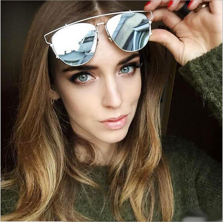 2015 New Retro SO REAL Sunglasses Women Summer Style Oversized Mirror Flash Metal Wire Frame Sun Glasses Anti UVA Shades 1555(China (Mainland))