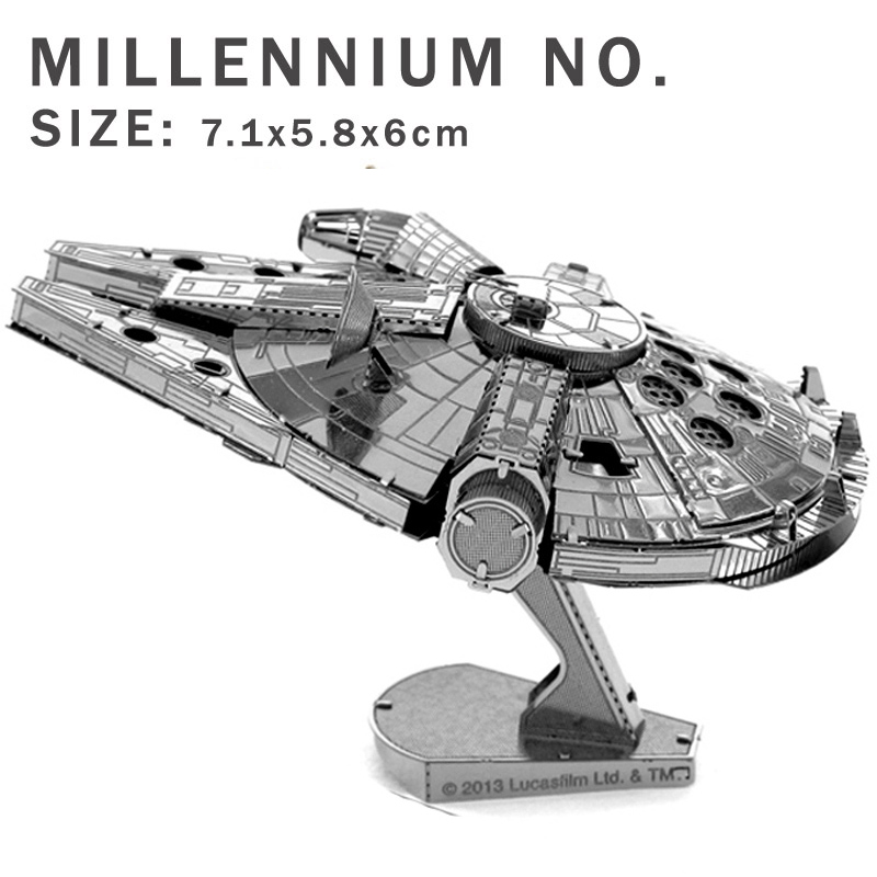 Creative Star Wars 3D model 3D metal puzzles DIY Jigsaws X-Wing Fighter/R2D2/ robot/ toy model Puzzle 7 kind of models wholesale(China (Mainland))