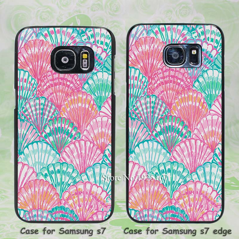 Lilly Scarf Oh Shello Pattern hard black Case Cover for Samsung Galaxy s3 s4 s5 mini s6 s7 edge(China (Mainland))