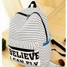 Women Backpack for teenager girls Handmade Vintage Rucksack Striped Canvas notebook Mochila female School laptop Sale brand Bag(China (Mainland))
