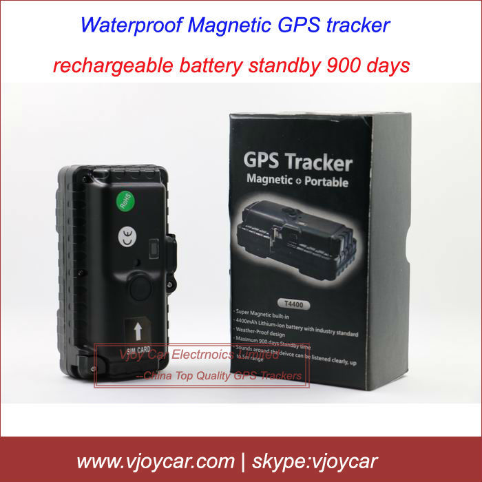 New! T4400 vehicle gps with 4400 mah battery, waterproof, powerful magnet, sound monitor, motion sensor and real time tracking.(China (Mainland))