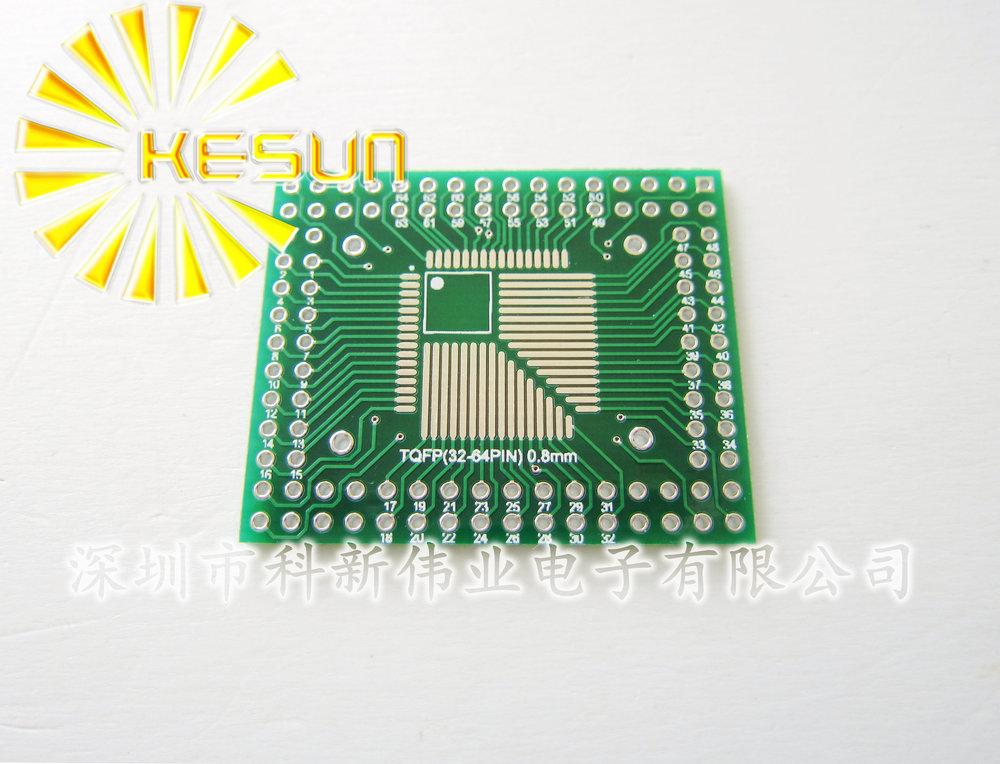 100PCS X QFP/FQFP/LQFP TQFP32 / TQFP44 / TQFP64 / TQFP80 / TQFP100 0.5MM / 0.8MM Pitch IC adapter Socket / Adapter plate / PCB(China (Mainland))