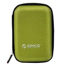 Orico 2.5 Polegada hdd & ssd saco de proteção de náilon zíper bolsa mini power bank caseelectronic organizador caso de transporte(China)