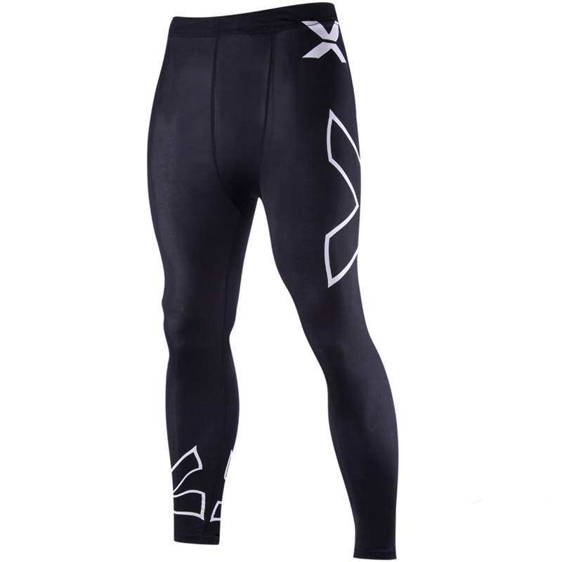 2016 New Gym Clothing Men Hight Stretch Tight Pants X Pattern Low Waist Sexy Men's Legging Pant Joggers Sport Running Trousers(China (Mainland))