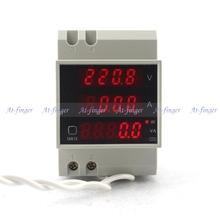 Вольтметр переменного тока амперметр измеритель мощности коэффициент мощности AC200-450V 100A din-рейку с красным из светодиодов дисплей активная мощность очевидно питания дисплея