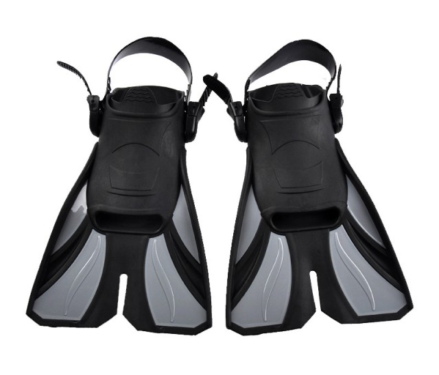 TPE+PP Submersible fins snorkel swimming set fins light short flipper set fins(China (Mainland))