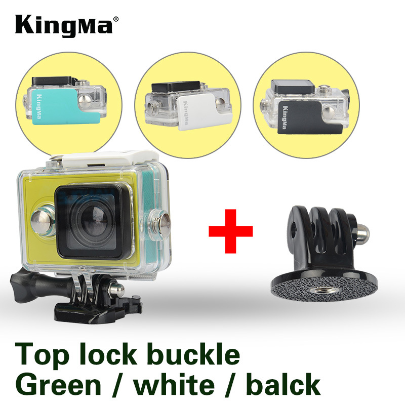 KingMa Original Xiaomi Yi Camera Waterproof Case, Mi Yi 40M Diving Sports Waterproof Box, Yi Action Camera aksesoris Accessories(China (Mainland))
