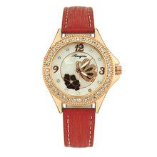 עור חגורת שעון אופנה נשים שעונים גבירותיי ריינסטון מקרה שעוני יד שעון relogios masculino רב צבע קטן fres(China)