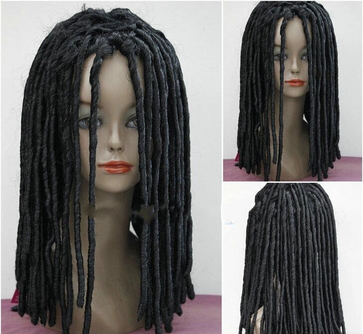 Dreadlock Style Long Curls Rolls Hair Drama Cosplay Costume black Party Wigs <br><br>Aliexpress