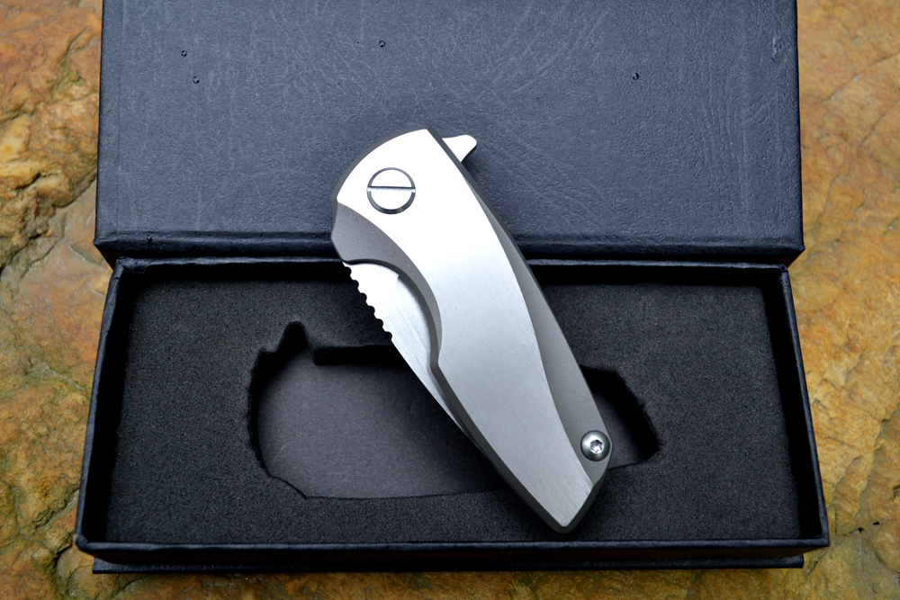 Anton Malyshev Gnome folding knife pocket outdoor knife D2 stainless steel blade Ti handle Survival hunting