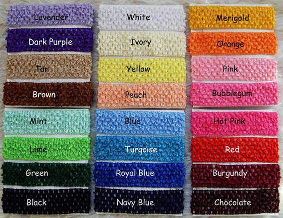 33 Colored Infant Toddler Kid hair band Headwear 1.5 inch fashion elastic baby crochet headband Hair Accessories xth060(China (Mainland))
