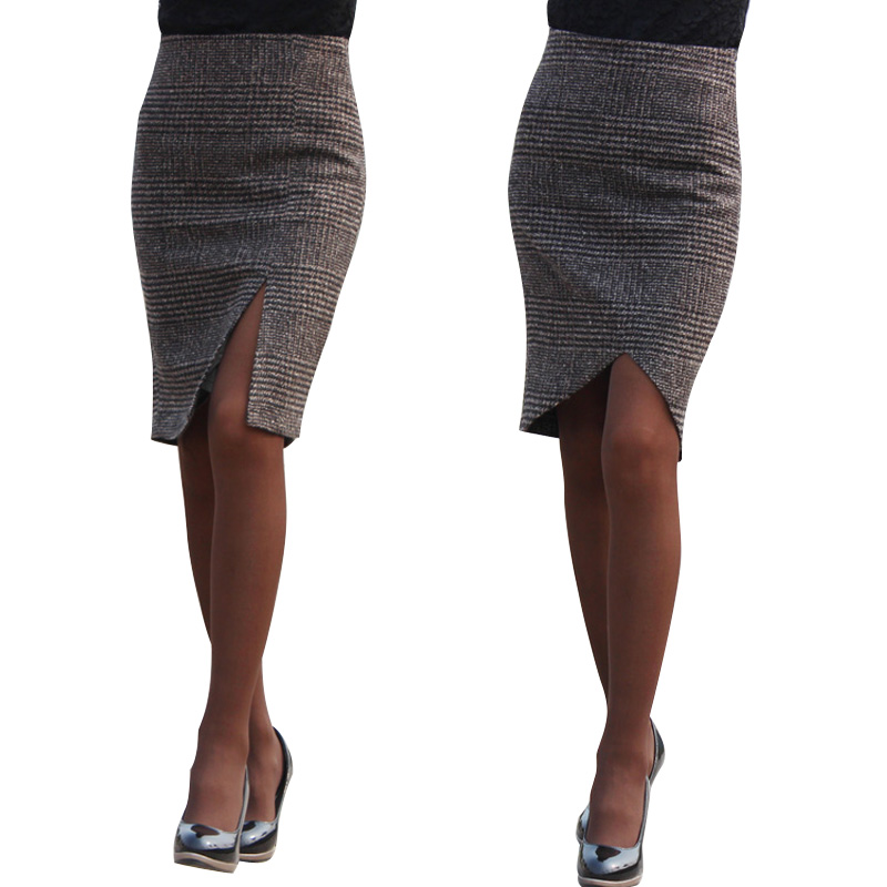 how to wear knee length skirts in winter