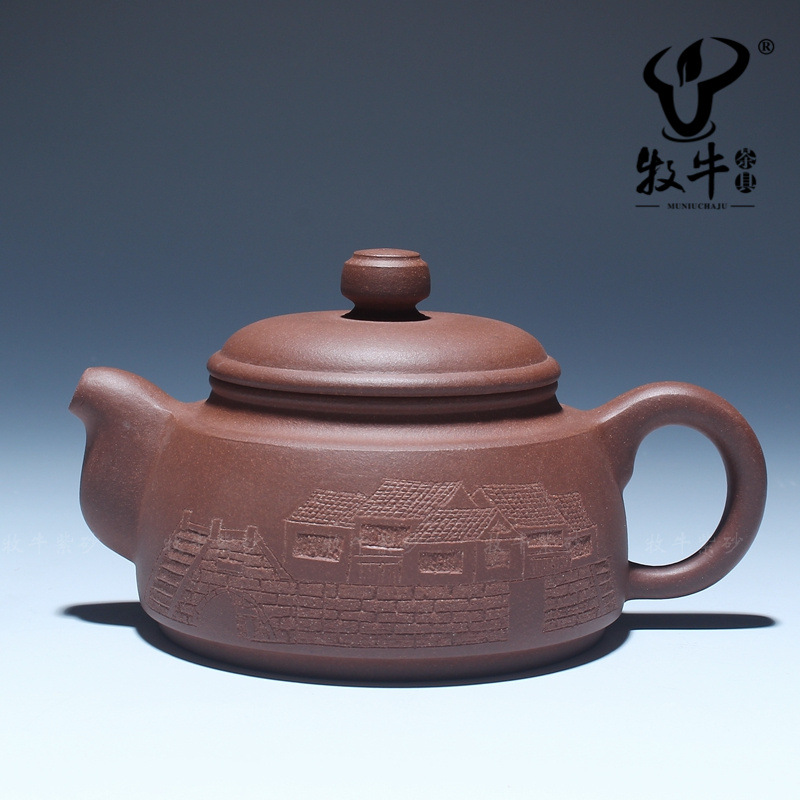 Relief carving bridges 210 ml of Yixing raw Zisha Teapot Tea Set Gift group purchase special offer(China (Mainland))