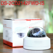 Buy stock DS-2CD2142FWD-IS English version mini dome CCTV camera 4MP 30m IR network POE IP security camera SD card slot for $73.50 in AliExpress store