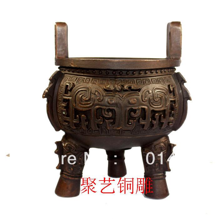 Bronze statue copper tripod decoration basons boyden crafts(China (Mainland))