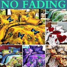 Fashion 3D Animals Pastoral Cheap Cotton Bedclothes Quilt / duvet Cover Sets Double Bed 4pcs / Bedding Set King Size(China (Mainland))