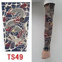 20 kinds buy 1 get 1 Free Rock Arm Warmers fingerless gloves pulseiras de couro hand warmer UV sleeve tattoo punk armstulpen(China (Mainland))