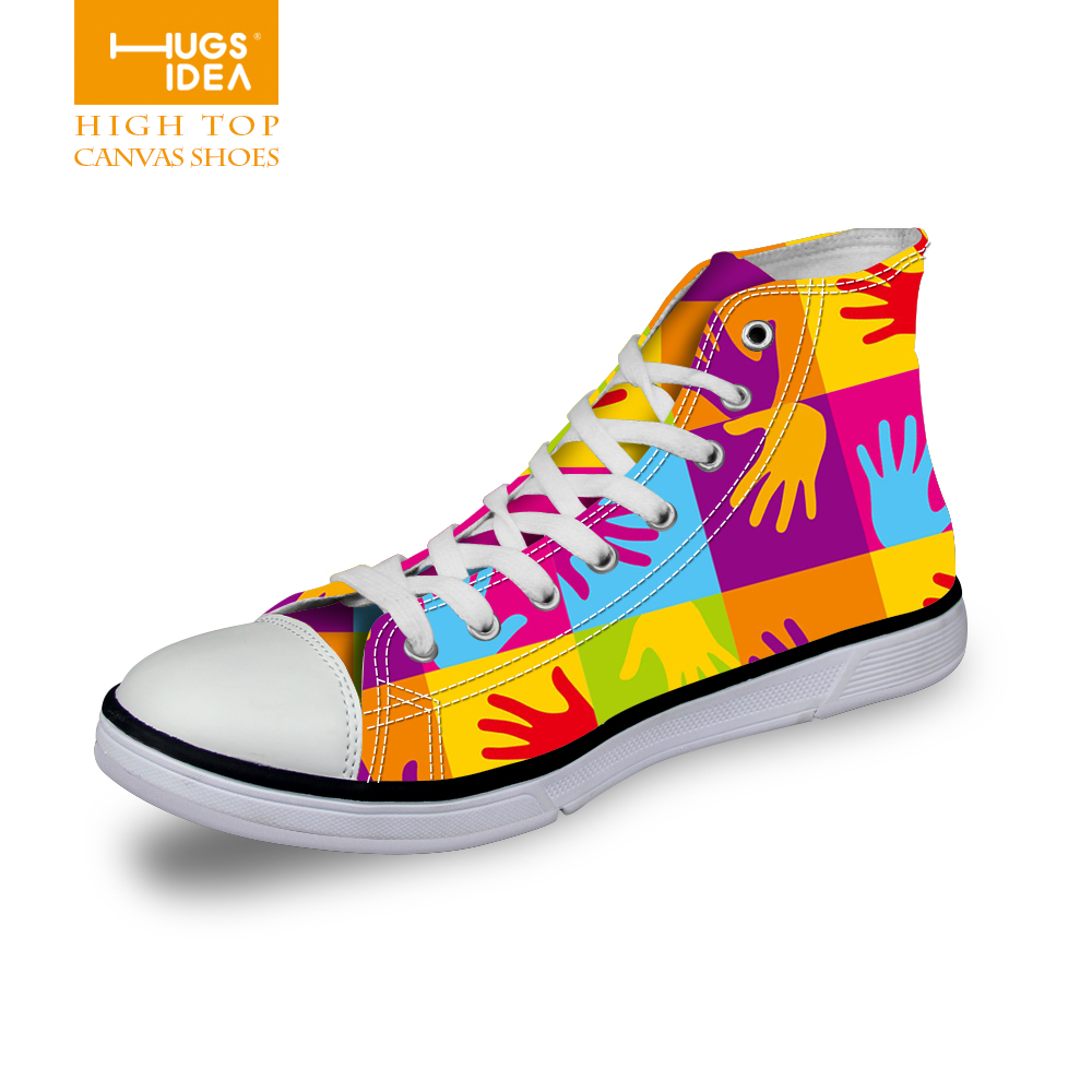 Fashion Casual Women Shoes Zapatos Mujer High Top Shoes Women Canvas Shoes Printed Women chaussure femme