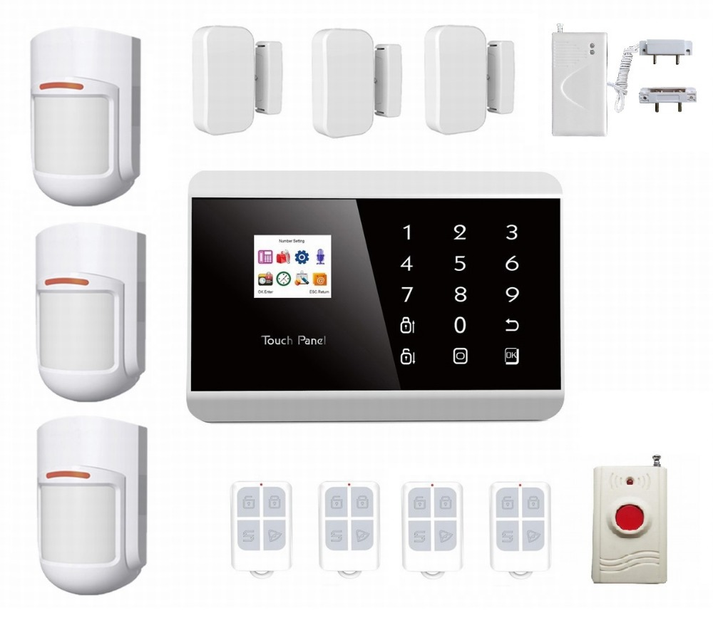 IOS APPS Andriod GSM &pstn alarm security Burglar Alarm System Detector Sensor Remote Control water sensor emgerncy alarm(China (Mainland))