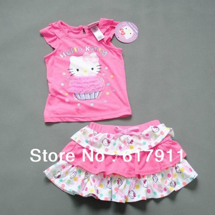 baby clothing girls set hello kitty kids sets 1-5years girl clothes - Fashion Kids store