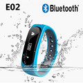 E02 Smart Bracelet Bluetooth Sport Smartband Wristband Call Message Remind Anti Lost Band for Android IOS