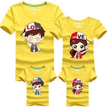 Family Cartoon Couple T Shirt Matching Mother Daughter Son Clothes Women Men Kid Summer Shirt Cute Cartoon characters T-Shirts