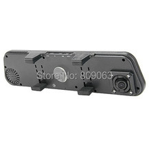 Dual Camera RearView Mirror DVR With External Camera 2 7 Inch LCD Screen 140 Degree Wide