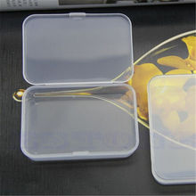 2 PCS Practical Transparent Fine Storage Box Collection Container Case with Lid Free Shipping(China (Mainland))