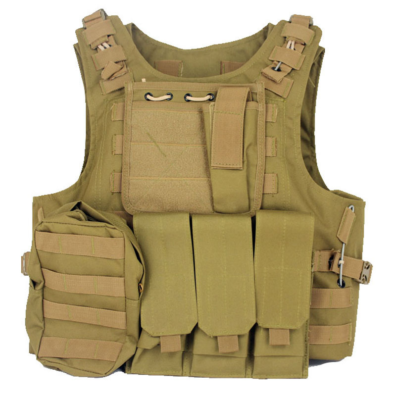 Amphibians Molle Army Tactical Combat Vest WIRE-STEEL-IN SAND COLOR<br><br>Aliexpress