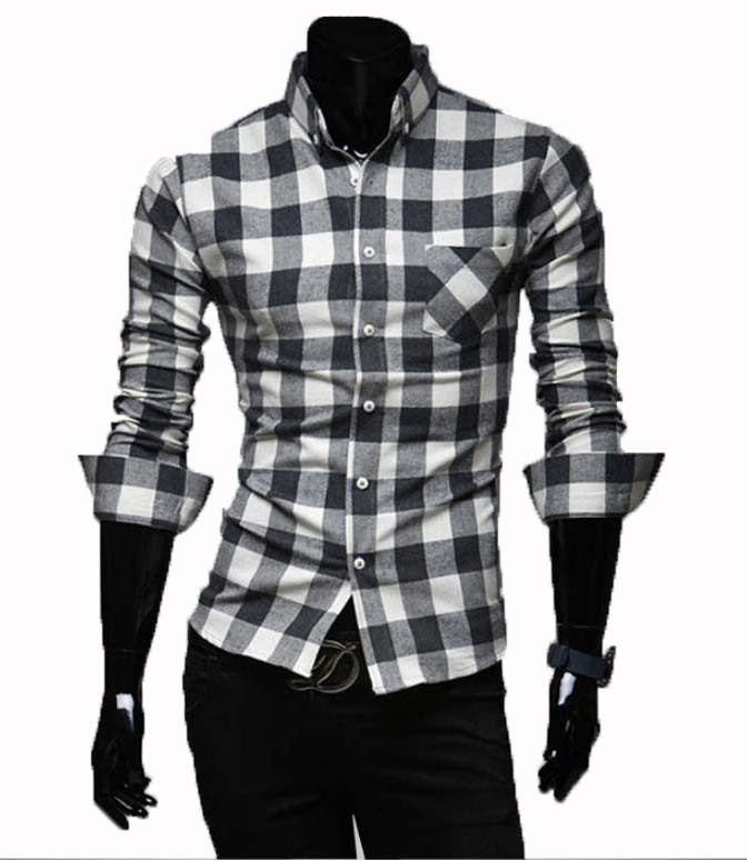 Check Men 39 S Shirt Flannel Men Shirt Long Sleeve Checkered