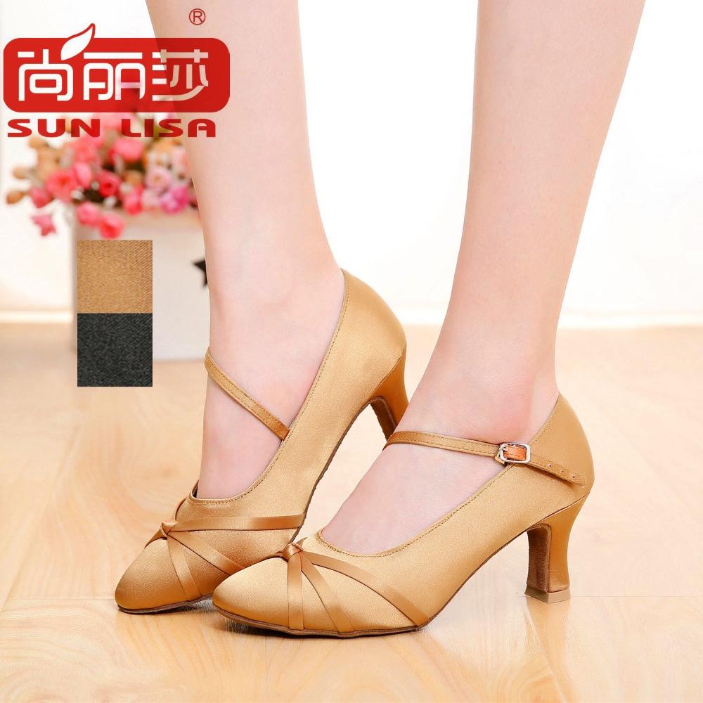 SUN LISA Gorgeous Women's Lady's Dancing Shoes With High Heels Ballroom Modern Latin Dance Shoes(China (Mainland))