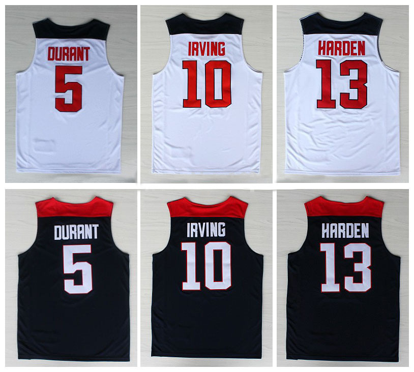 Free Shipping #5 Kevin Durant Jersey 2014 World Cup USA Dream Team Basketball Jerseys 13 Kyrie Irving Jersey,James Harden Jersey(China (Mainland))