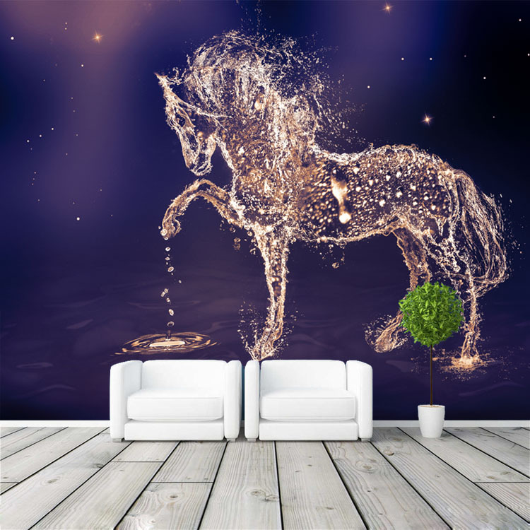 Fantasy horse photo wallpaper custom wall mural charming for Mural art designs for bedroom