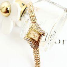 New Arrivals Fashion Women Rhinestone Watches, Luxury Women Rose Gold Bracelet Watch Gift Table. Free Shipping(China (Mainland))