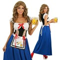 Ensen German Beer Festival blue Skirt Female Maid Beer girl classical maid Halloween cosplay costume The