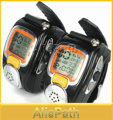 3 pairs Protable Backlit Pair LCD Two Way Radio Digital Walkie Talkie Travel Watch Wrist Watch DualBand Interphone Transceiver(China (Mainland))