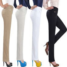 Discount woman pants! High quality spring and summer middle-aged ladies casual pants, elastic waist pants, X085, free shipping(China (Mainland))