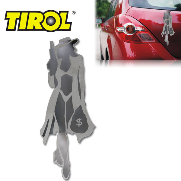 $7.99 Free shipping Promotion Stainless Steel ROBBER Emblem Easy Peel & Stick Installation Auto Decoration 3D Car Sticker T17393