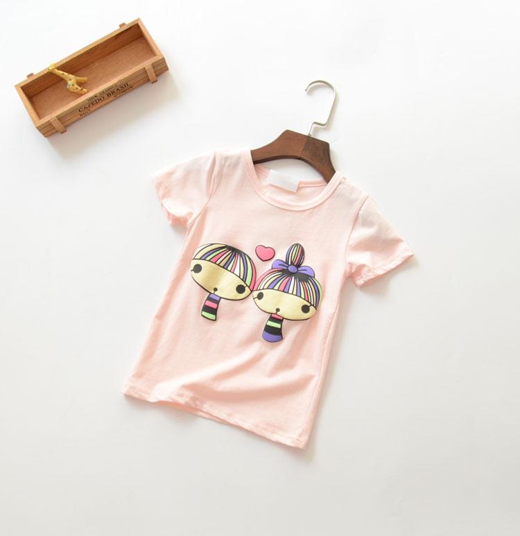 2016 summer new baby girls cartoon T-shirt children fashion cute tops T-shirt tees top()