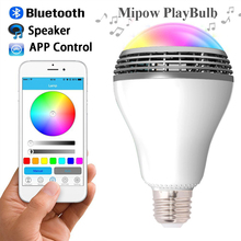 MiPow PLAYBULB X Bluetooth 4.0 Wireless Smart LED Bulb Audio Speaker Light Lamp For iPhone Android E27/E26 110V-220V # F1452(China (Mainland))