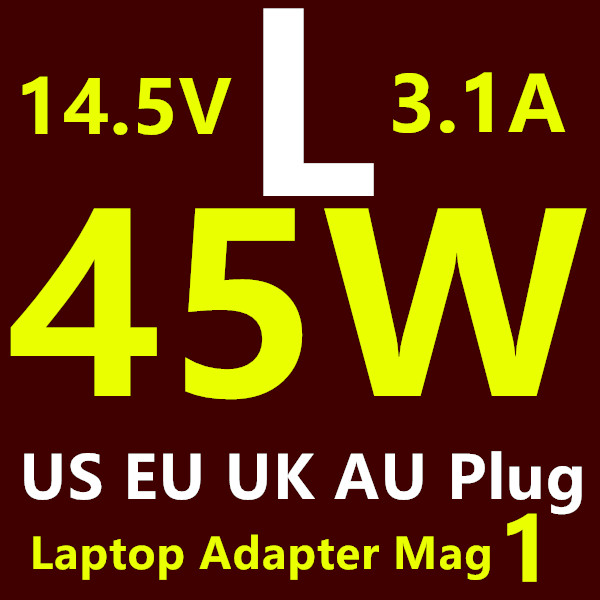 """2016 Factory 45W 14.5V 3.1A tip Power Adapter Laptop Charger for Magsafe 1 MacBook Air 11"""" 13"""" Before June 2012 US/EU/AU/UK Plug(China (Mainland))"""
