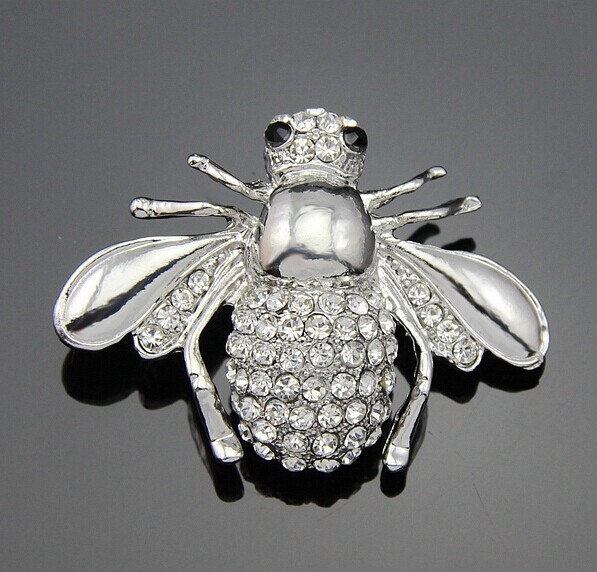 hot brooch Korea jewely Enamel Flying light insect Safety Pin Brooch with Rhinestone for Women(China (Mainland))