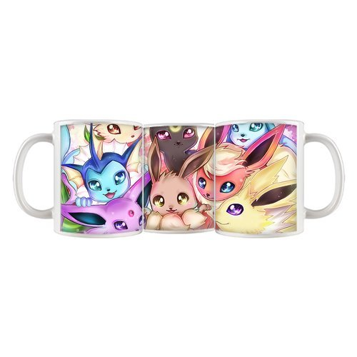 Cute Eevee Family Lovely Pet photo morphing coffee mugs transforming morph mug heat changing color ceramic Tea Cups cup(China (Mainland))
