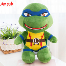 Amysh HOT toys 25cm Creative soft lovely mutant ninja turtles soft plush Appease doll anime cartoon baby kids toy gifts for kids(China (Mainland))