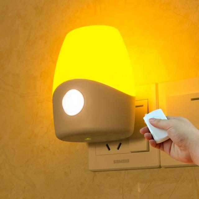 Wall Lamp With Remote : LED wireless wall lamp remote control bathroom dog bed oriental child beside lamp modern bedroom ...